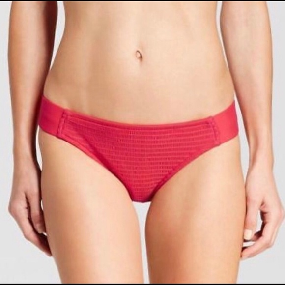 Mossimo Supply Co. Other - Mossimo Melonade Red Cheeky Bikini Bottoms NEW